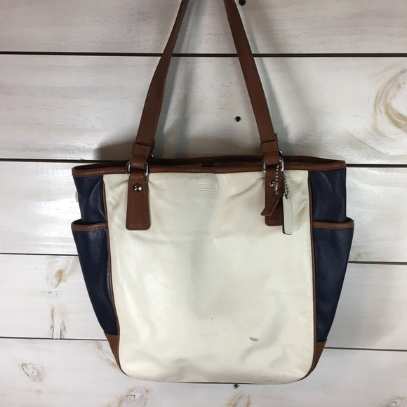 Coach Handbags - Coach | Park Color Block Leather Tote bag